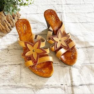 Spring Step brown wedge sandals size 37